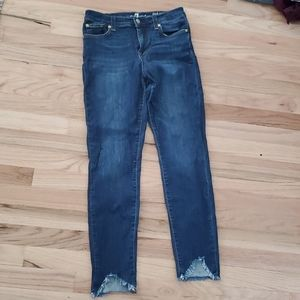 7FAM 7 seven for all mankind skinny high waisted